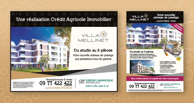 Affiches 4x3 et A3 pour Villa Mellinet à Nantes