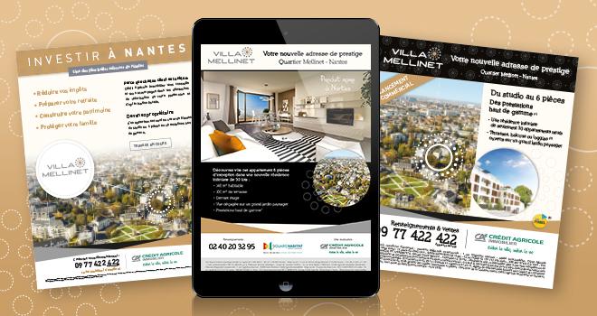 Annonces presse et emailings pour Villa Mellinet à Nantes