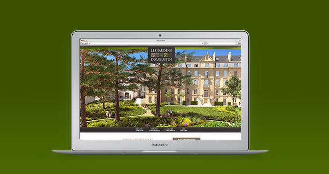 Site internet Les Jardins d'Augustin