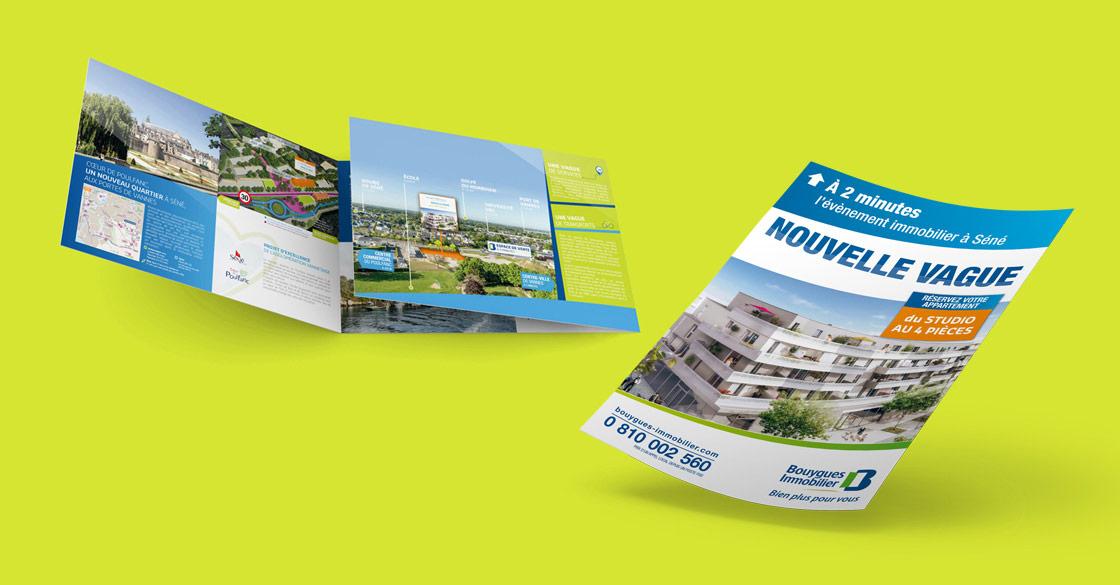 Plaquette pour Nouvelle Vague de Bouygues Immobilier
